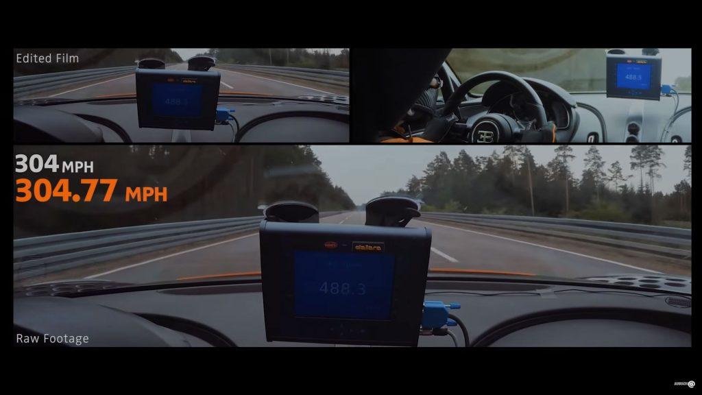 Bugatti Chiron onboard