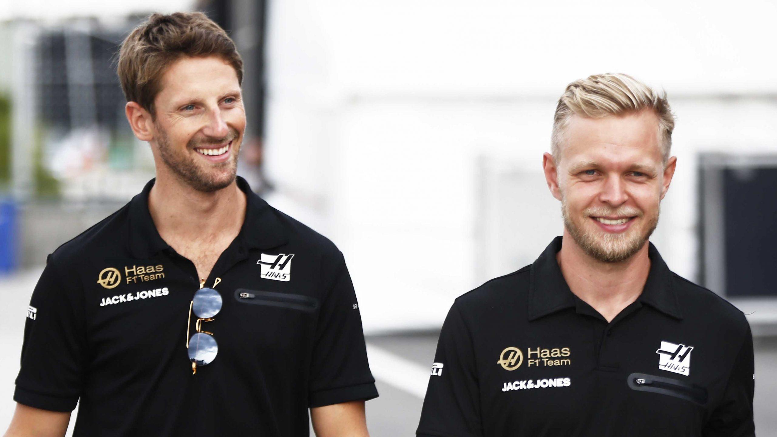 Romain GrosJean en Kevin Magnussen