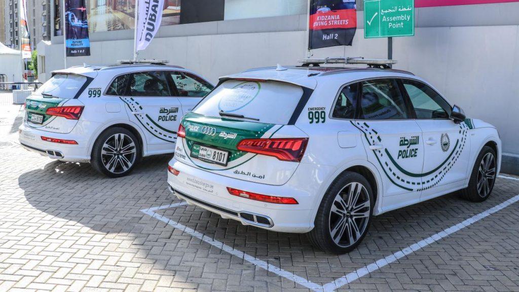 Audi SQ5 Politieauto in Dubai