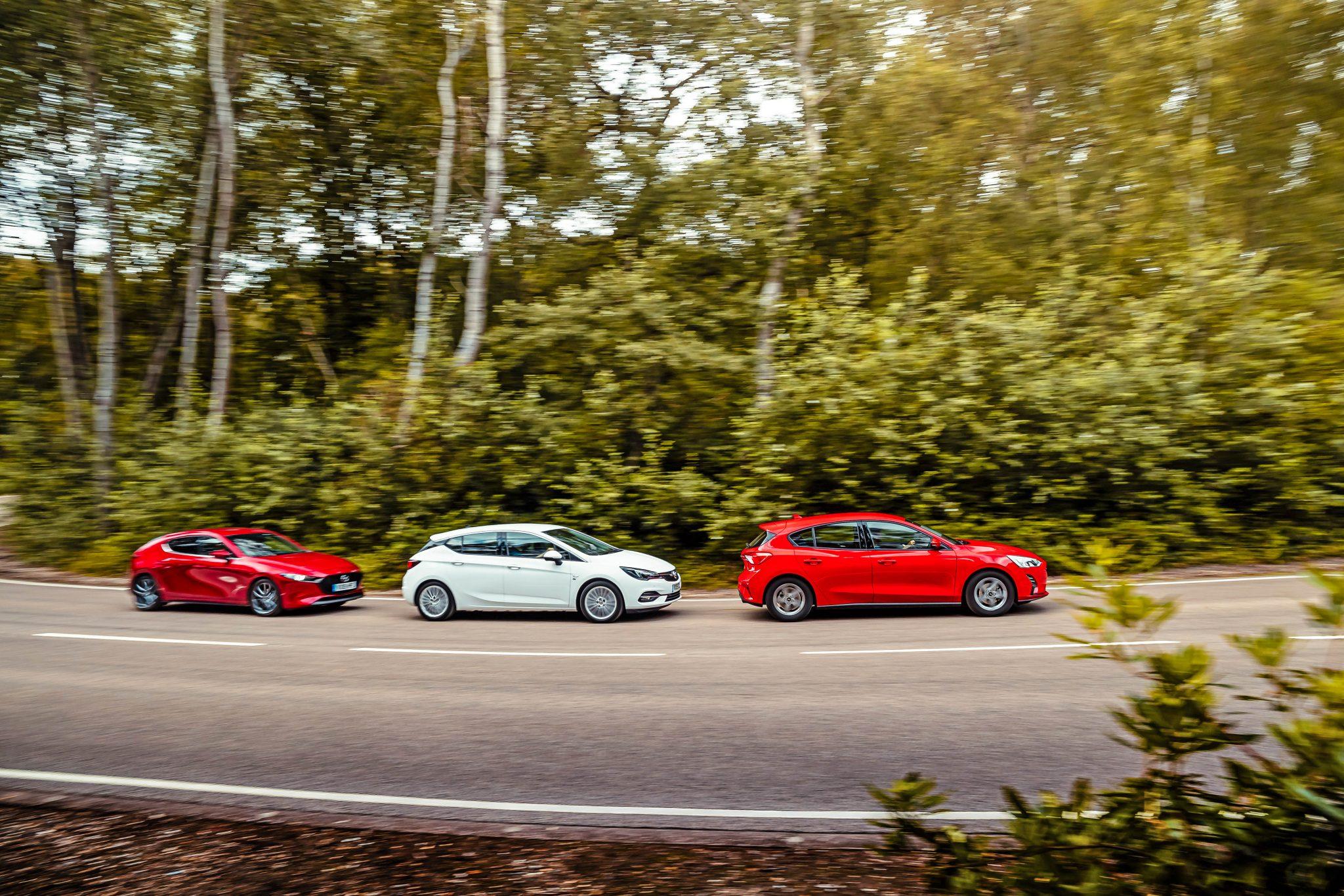 Ford Focus vs Mazda 3 vs Opel Astra