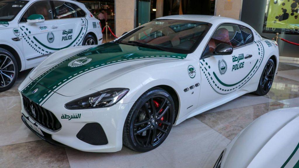 Maserati GranTurismo politieauto in Dubai