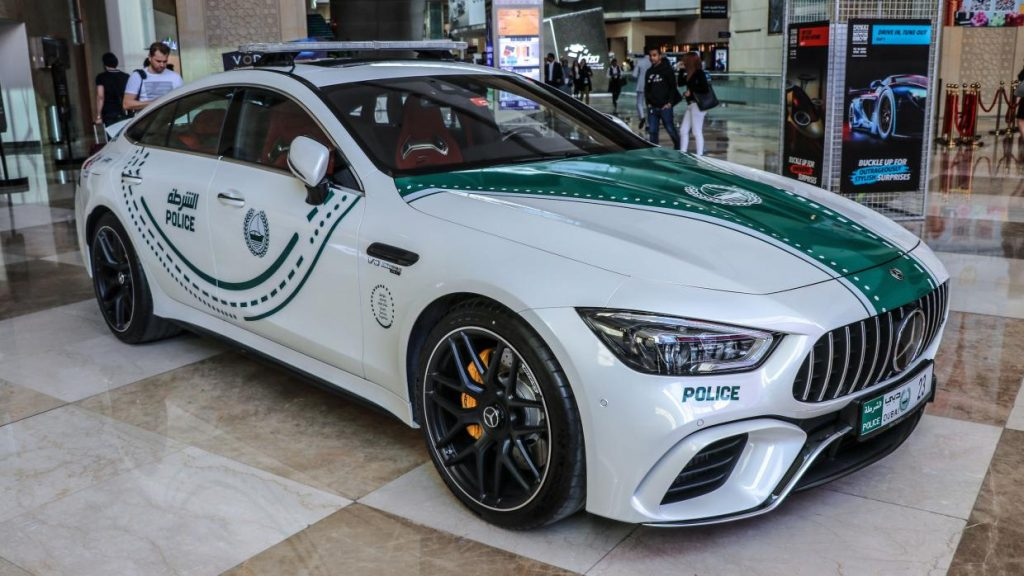Mercedes AMG GT 4-door Politieauto in Dubai