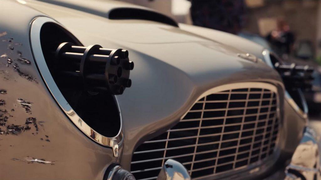 Aston Martin DB5 miniguns James Bond