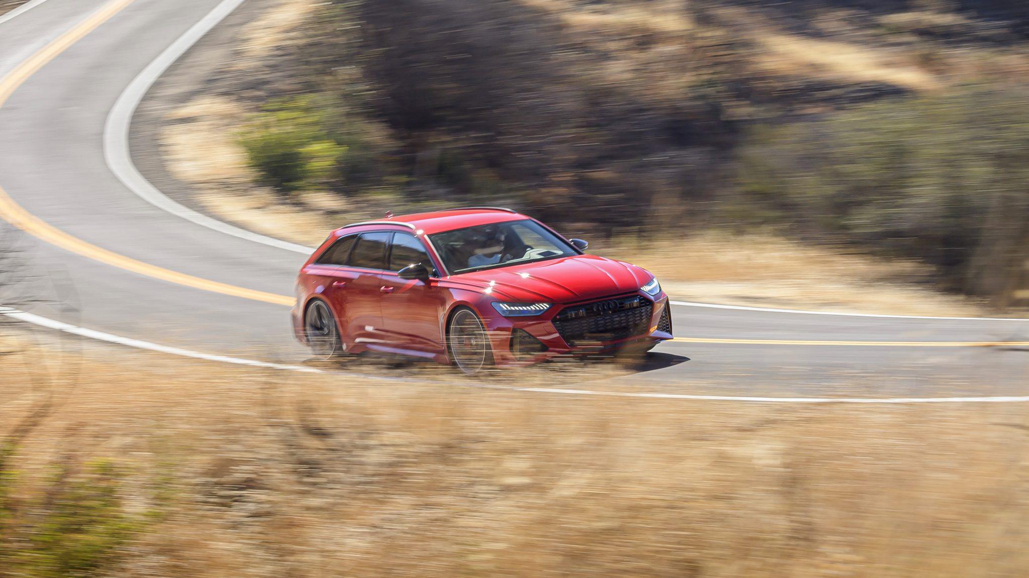 Audi RS 6 door bocht