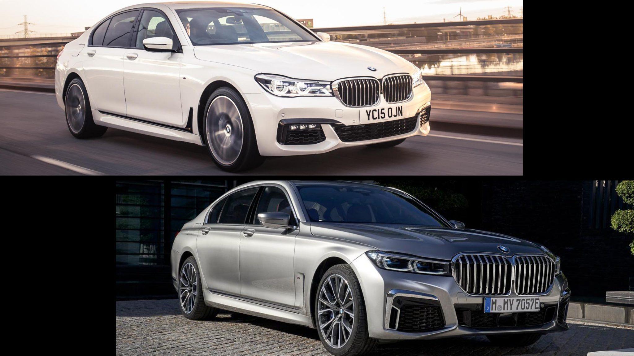 BMW 7-serie Facelift vs Pre-facelift