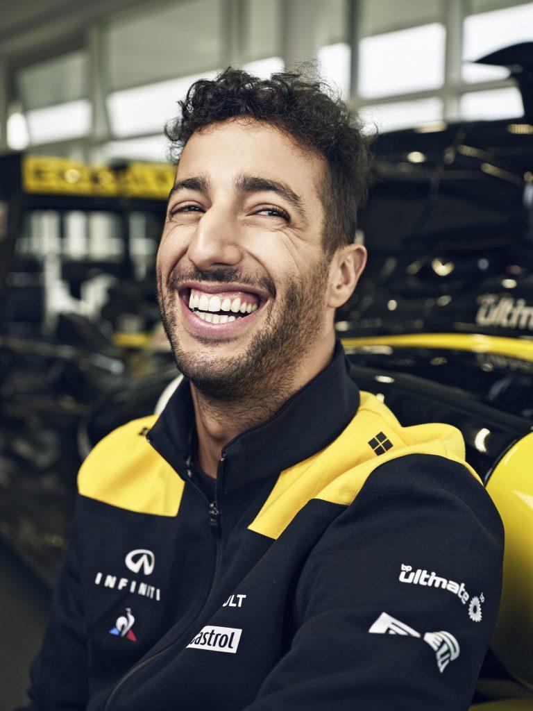 Daniel Ricciardo Renault glimlach