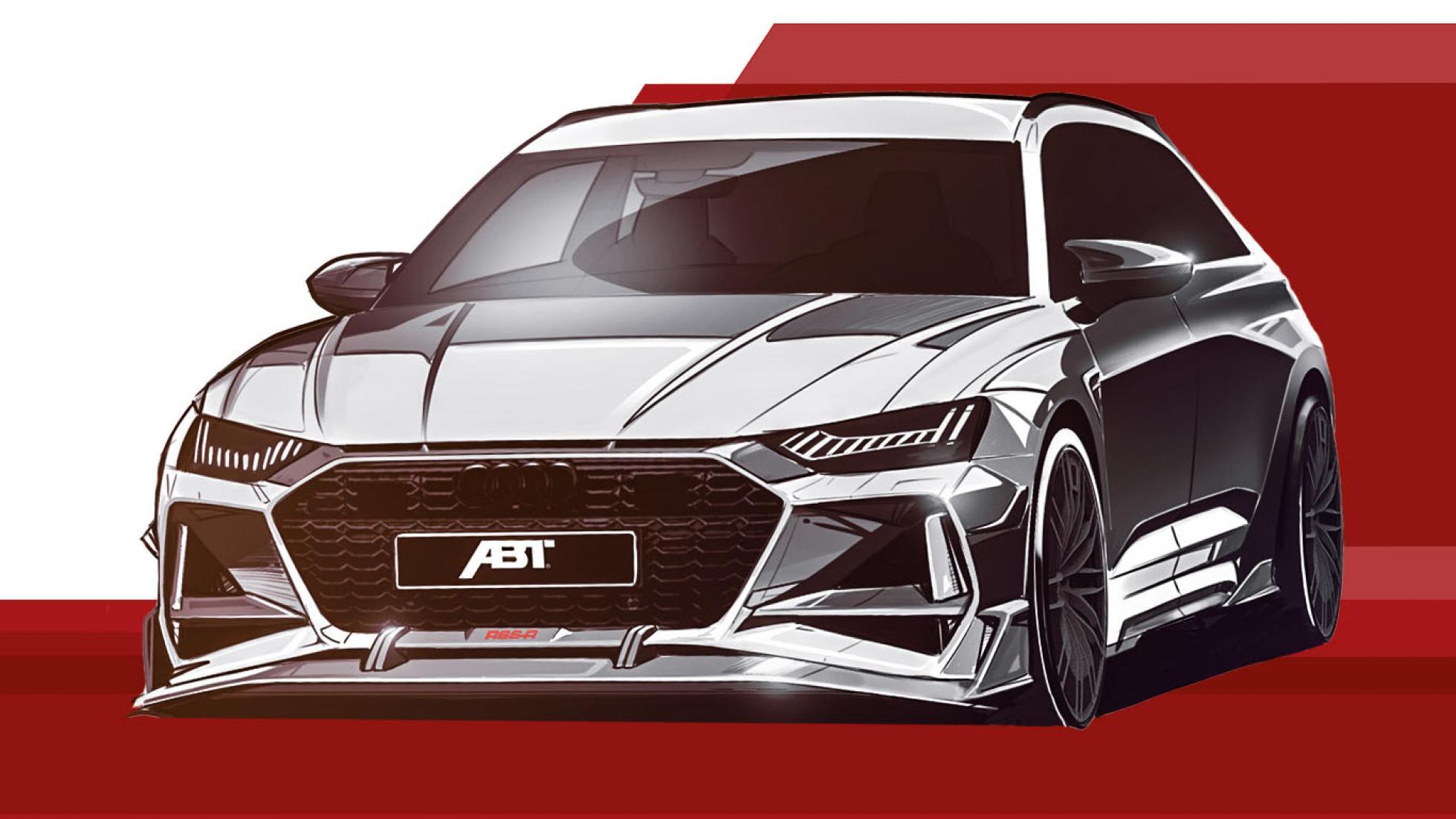 Schets van de Abt Audi RS 6-R