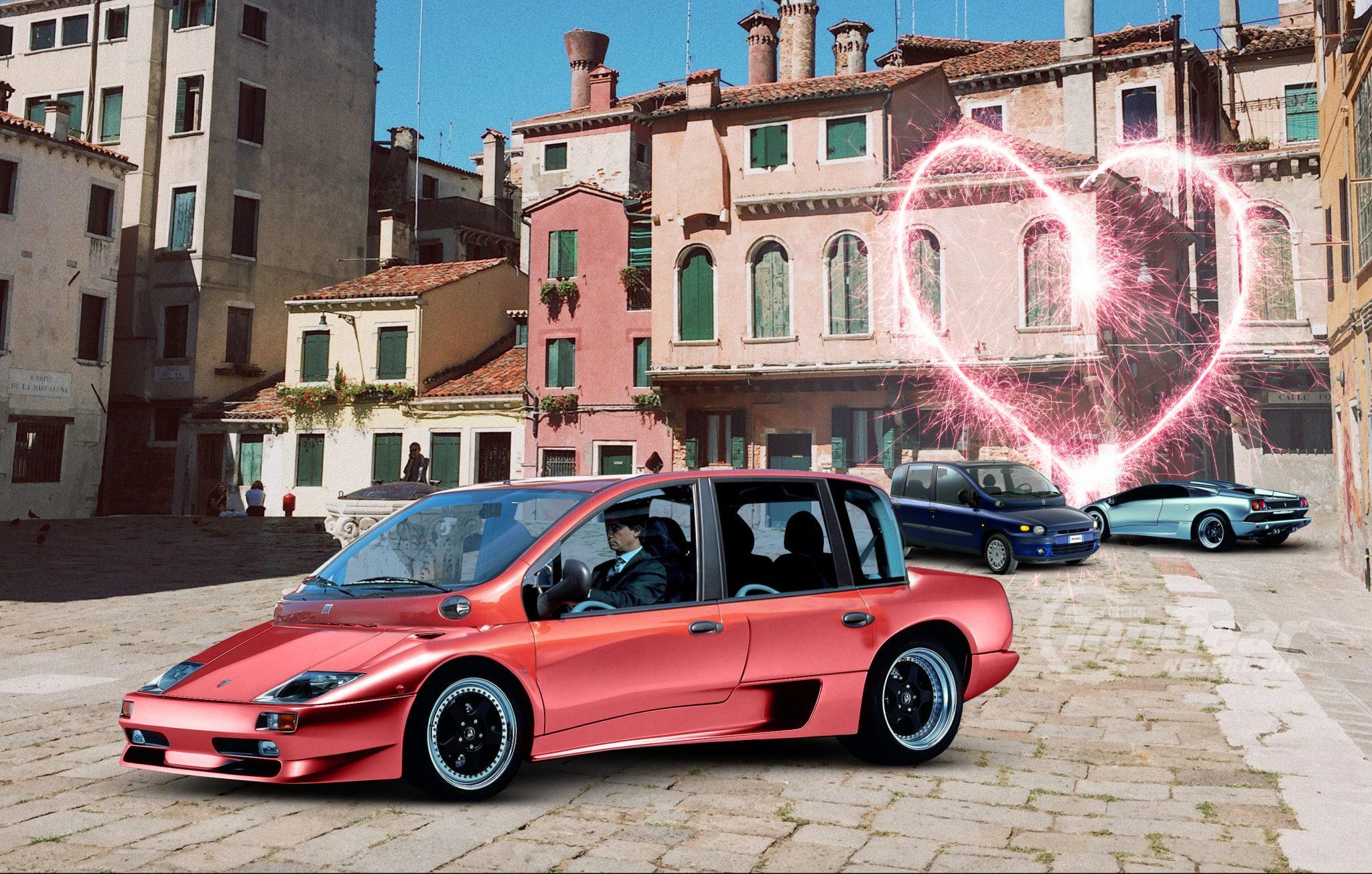 TGNL Autoliefdesbaby Lamborghini Diablo x Fiat Multipla