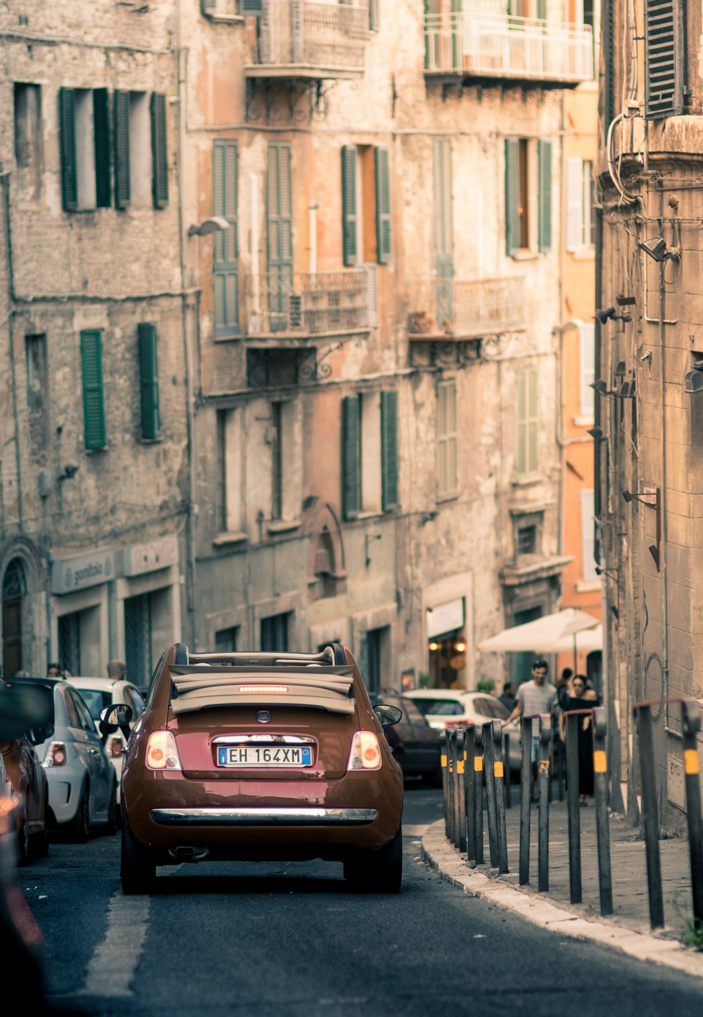 Fiat 500C door Italie
