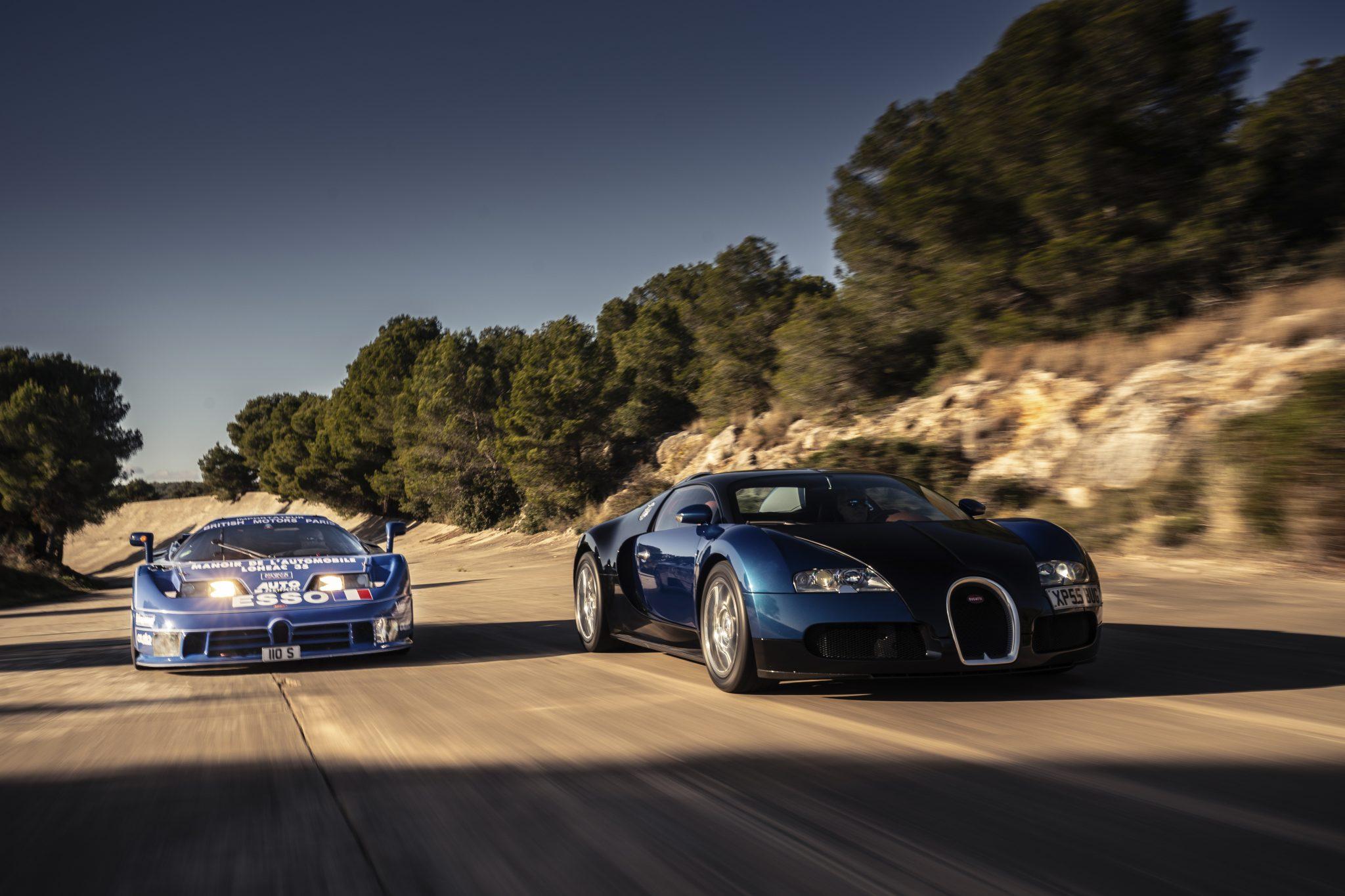 Bugatti Veyron blauw met zwart