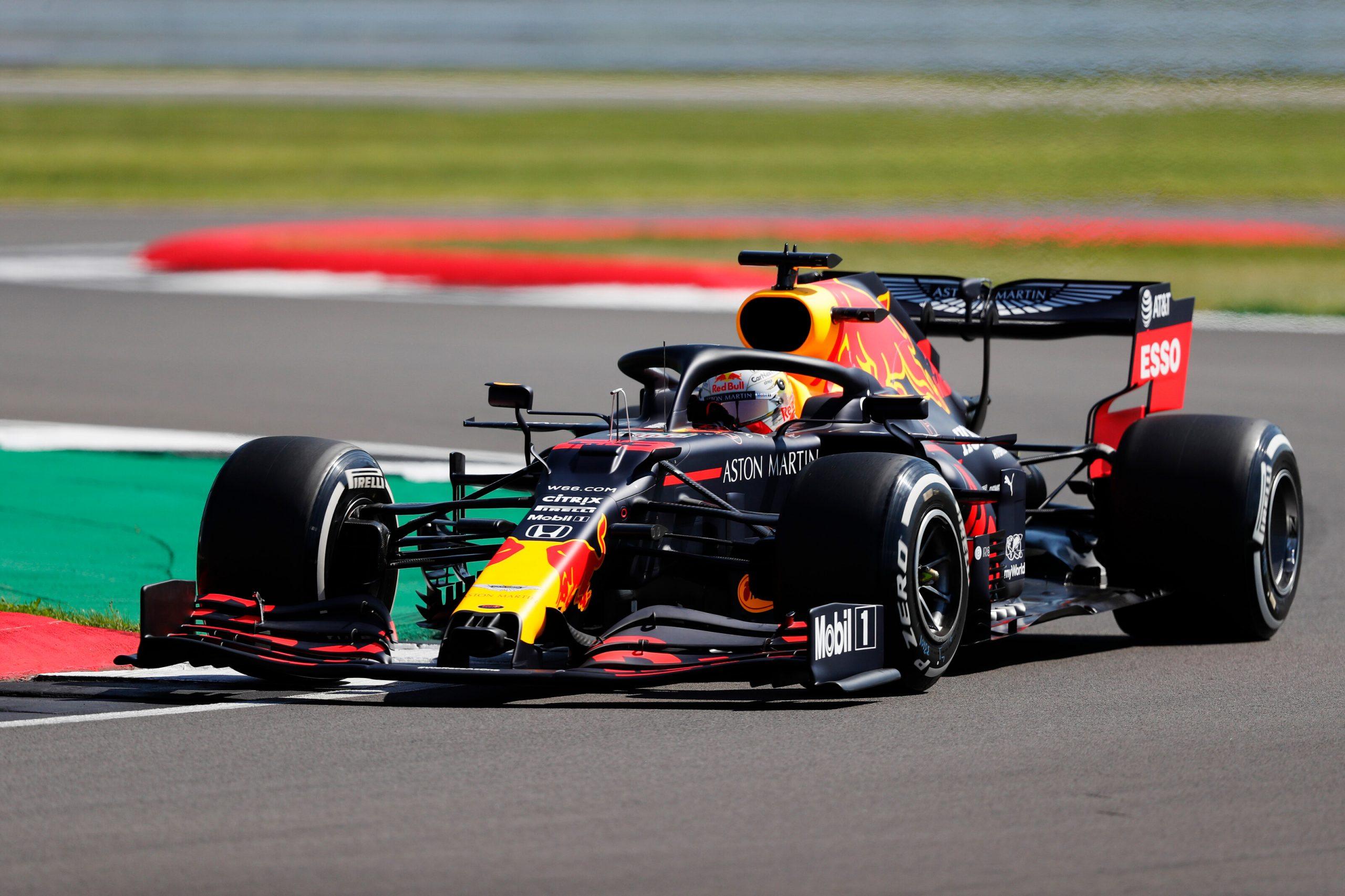 1e vrije training van de GP van Groot-Brittannië 2020