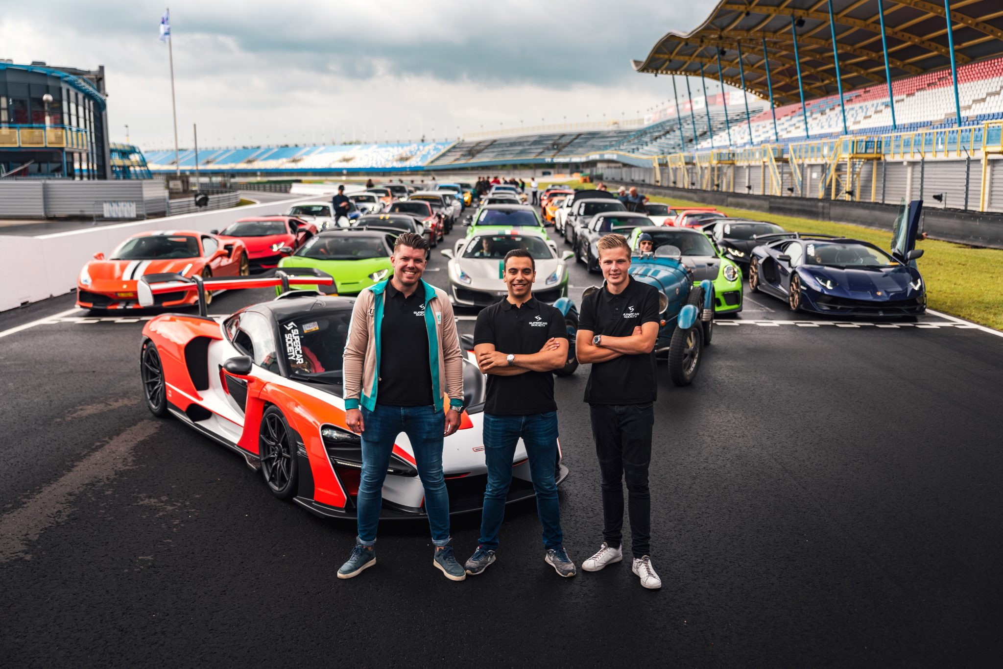Arian, Tomas en Roy van Supercar Society