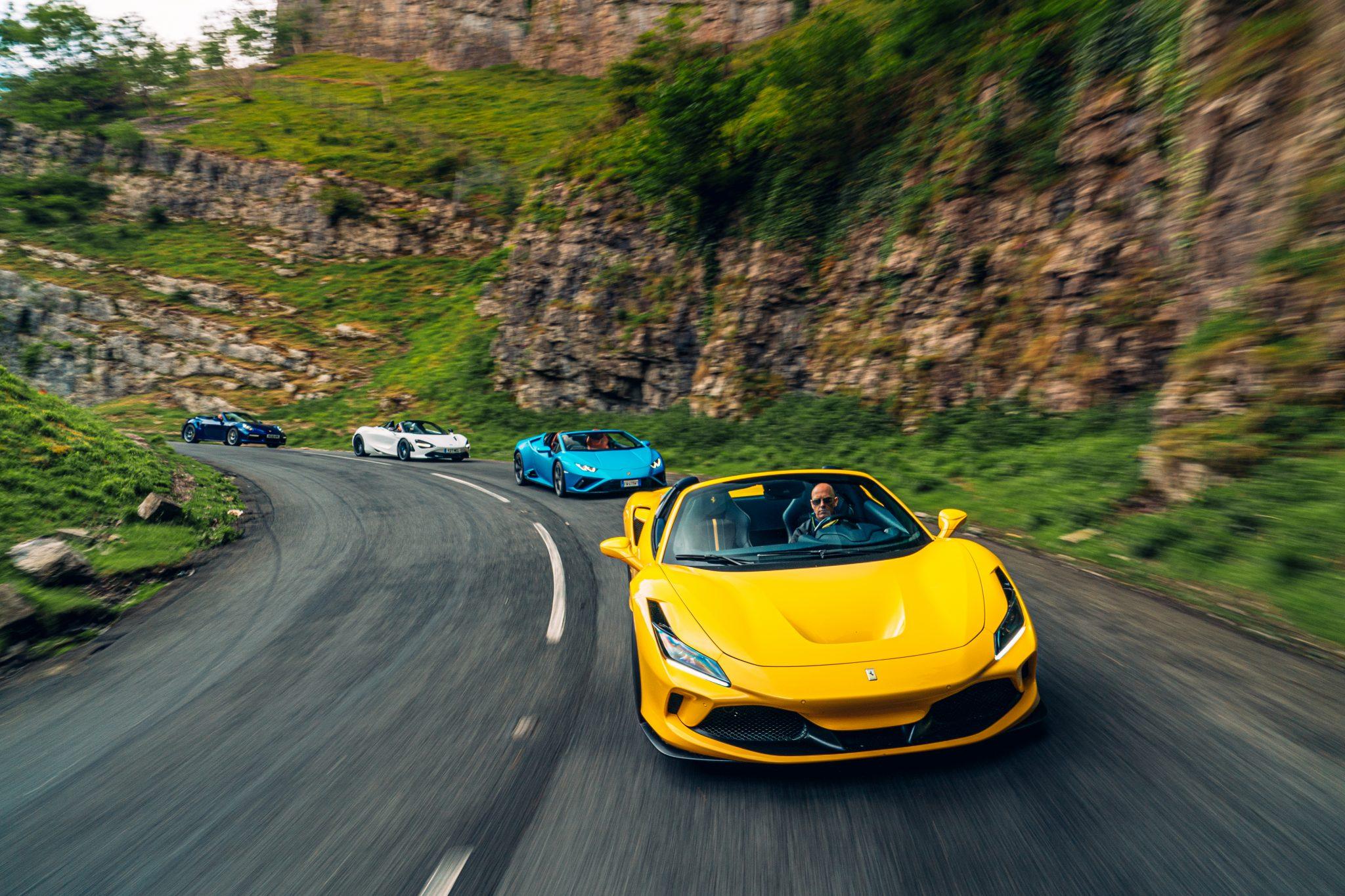 Ferrari F8 Spider vs Lamborghini Huracán Evo RWD Spyder vs McLaren 720S Spyder vs Porsche 911 Turbo S Cabrio