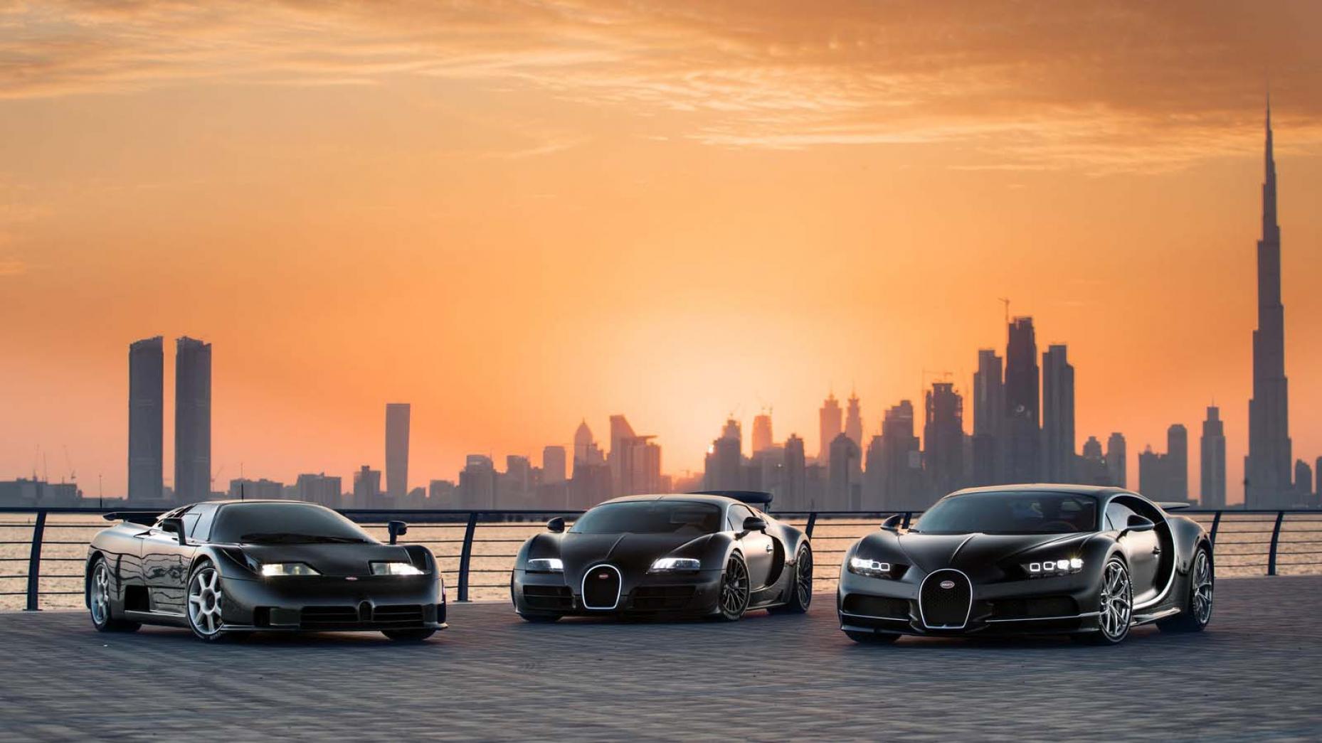 Bugatti EB110, Veyron en Chiron
