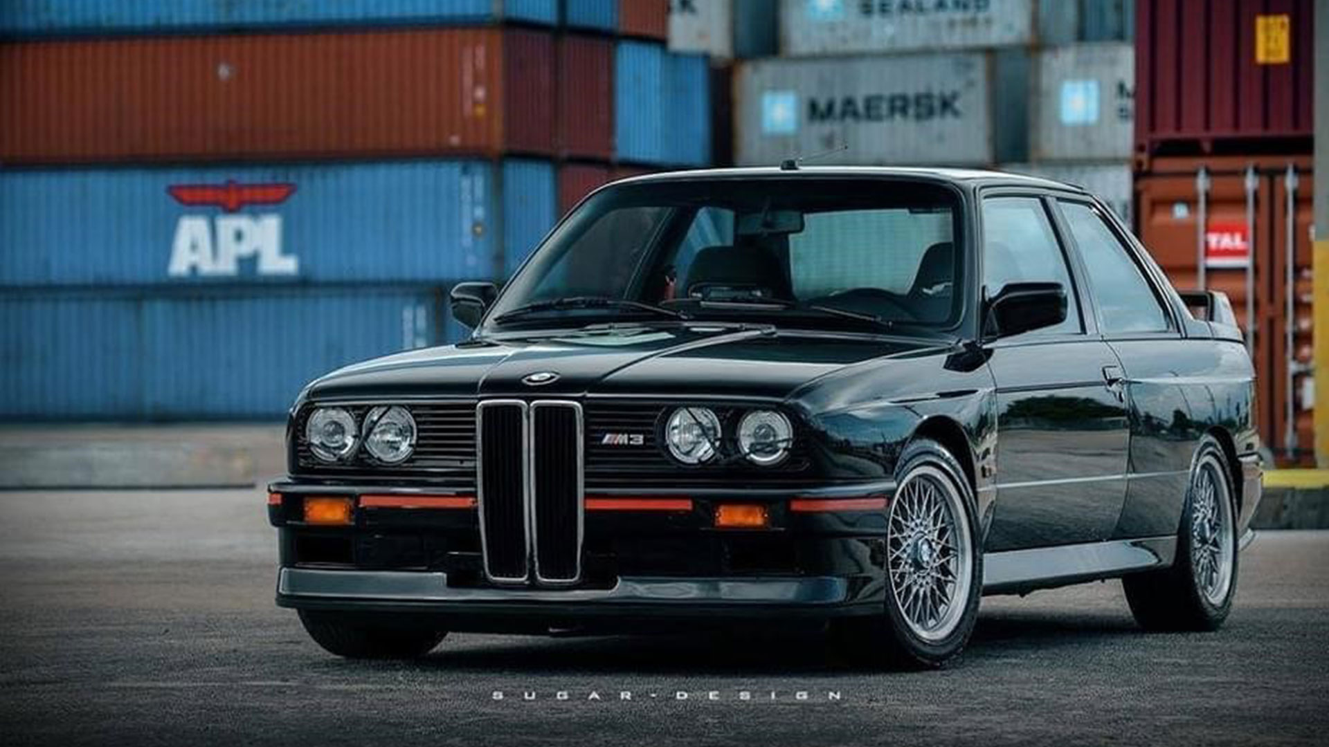 BMW M3 E30 met grote grille