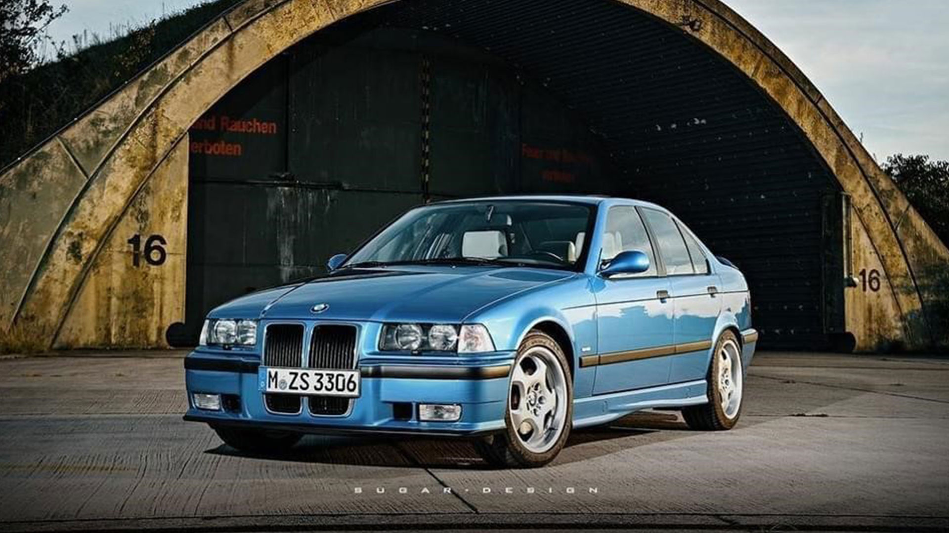 BMW M3 E36 met grote grille
