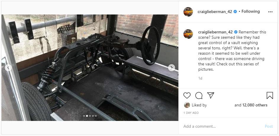 Kluis uit Fast Five op Instagram (Craig Lieberman)