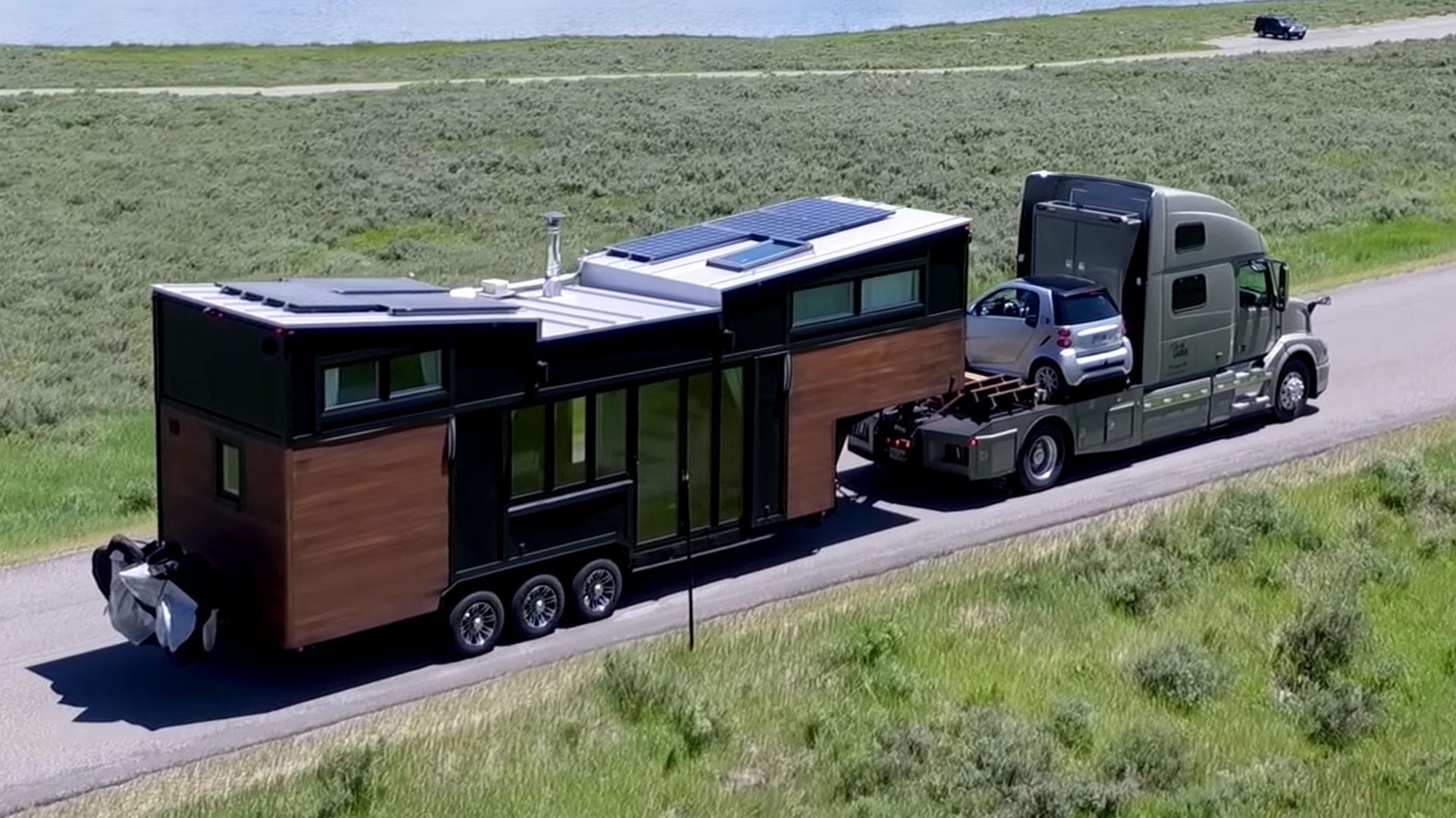 Mobiele tiny house gebruikt Tesla-batterijen