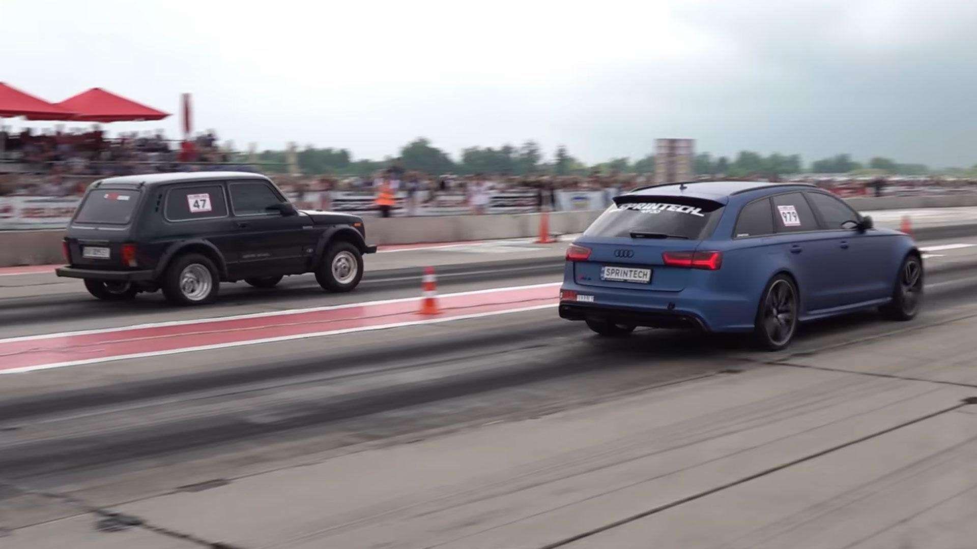 Lada Niva met 1.500 pk vernedert Audi RS 6