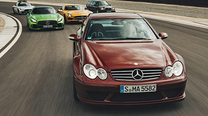 Rijden in museumstukken van Mercedes