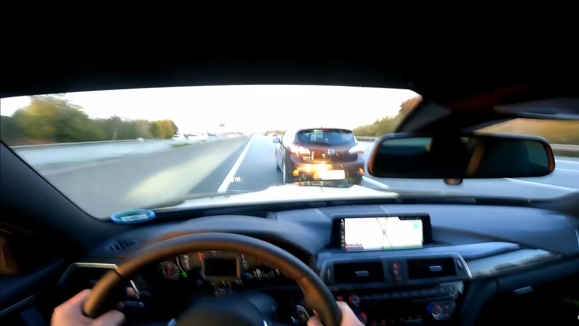 Bijna crash op de Autobahn