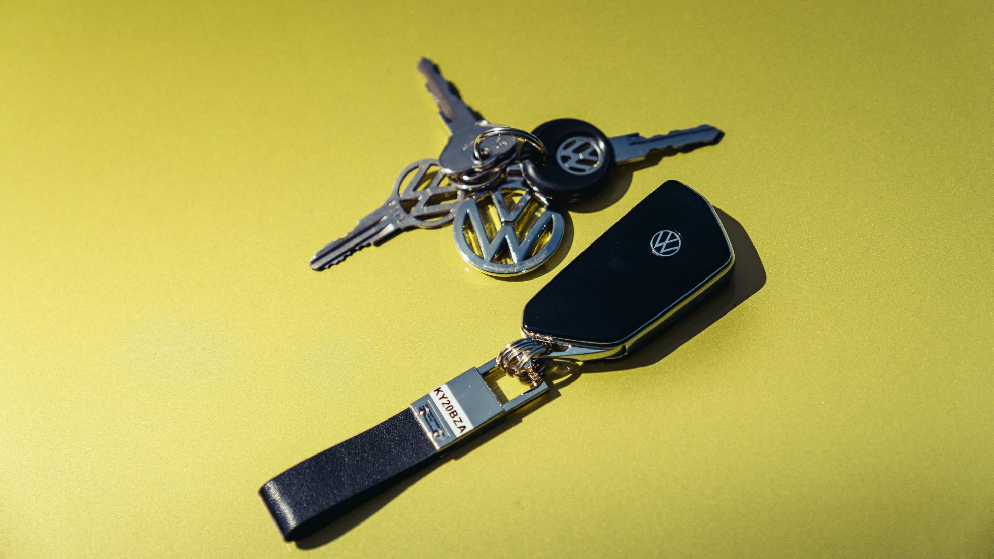Sleutels van de Volkswagen Golfjes