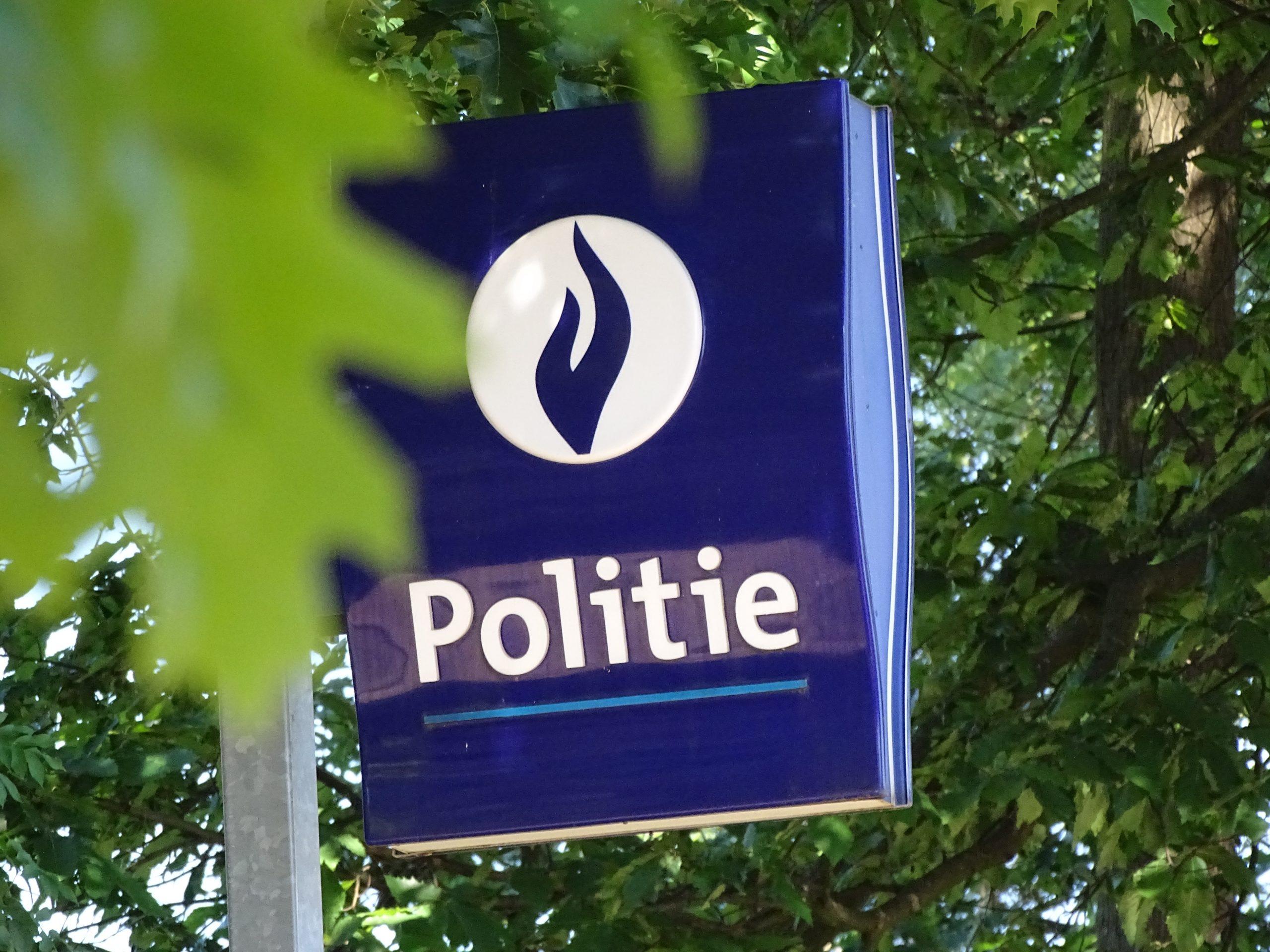 Bord van de politie in Belgie