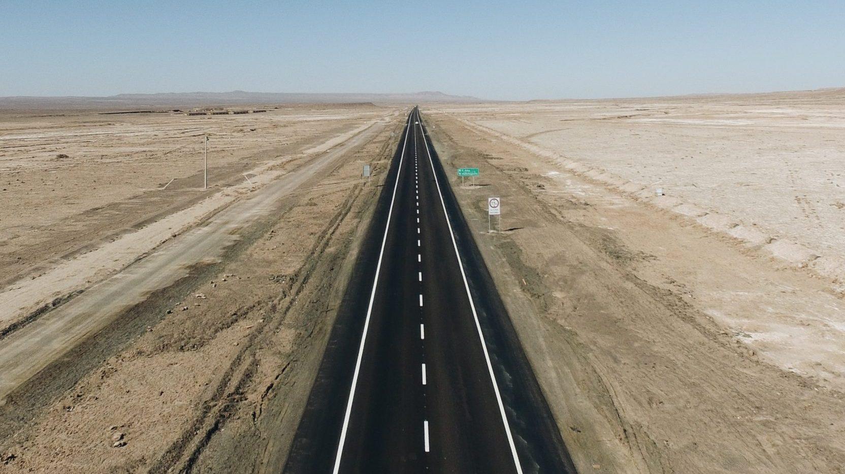 De langste rechte weg ter wereld