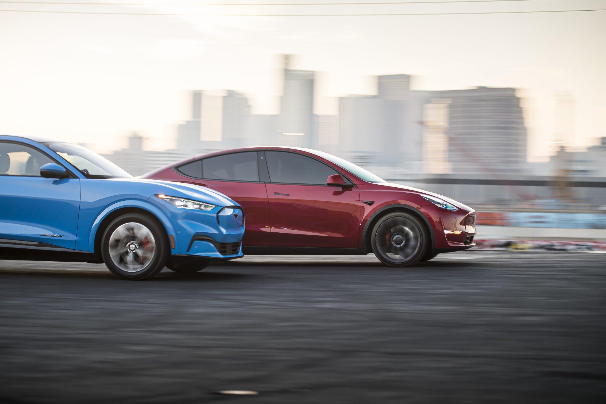Tesla Model Y vs Mustang Mach E