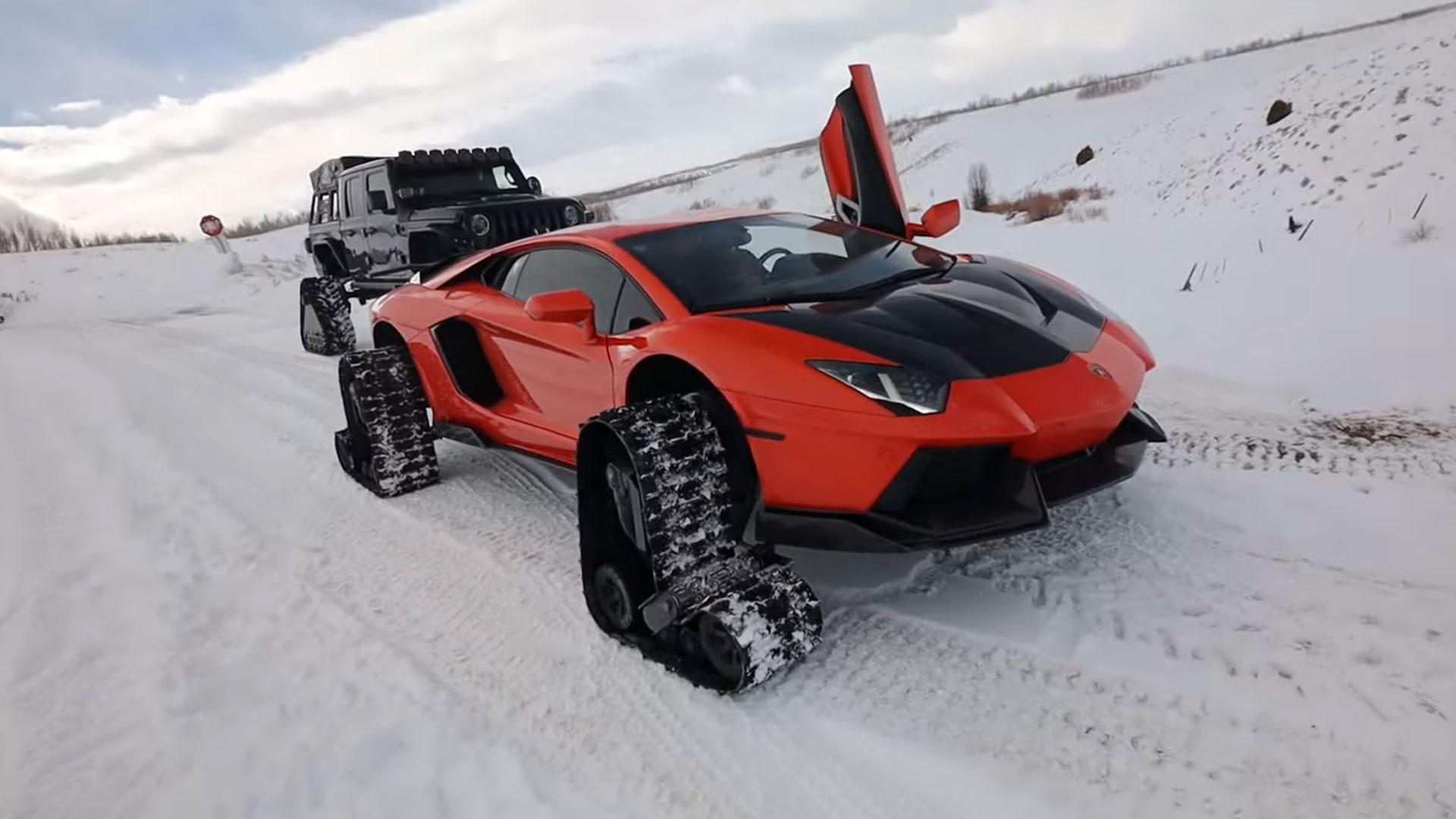 Lamborghini Aventador op Rupsbanden1