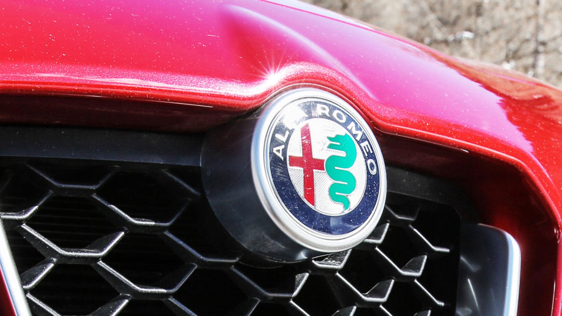 Alfa Romeo-logo in de grille van de Stelvio (badge)