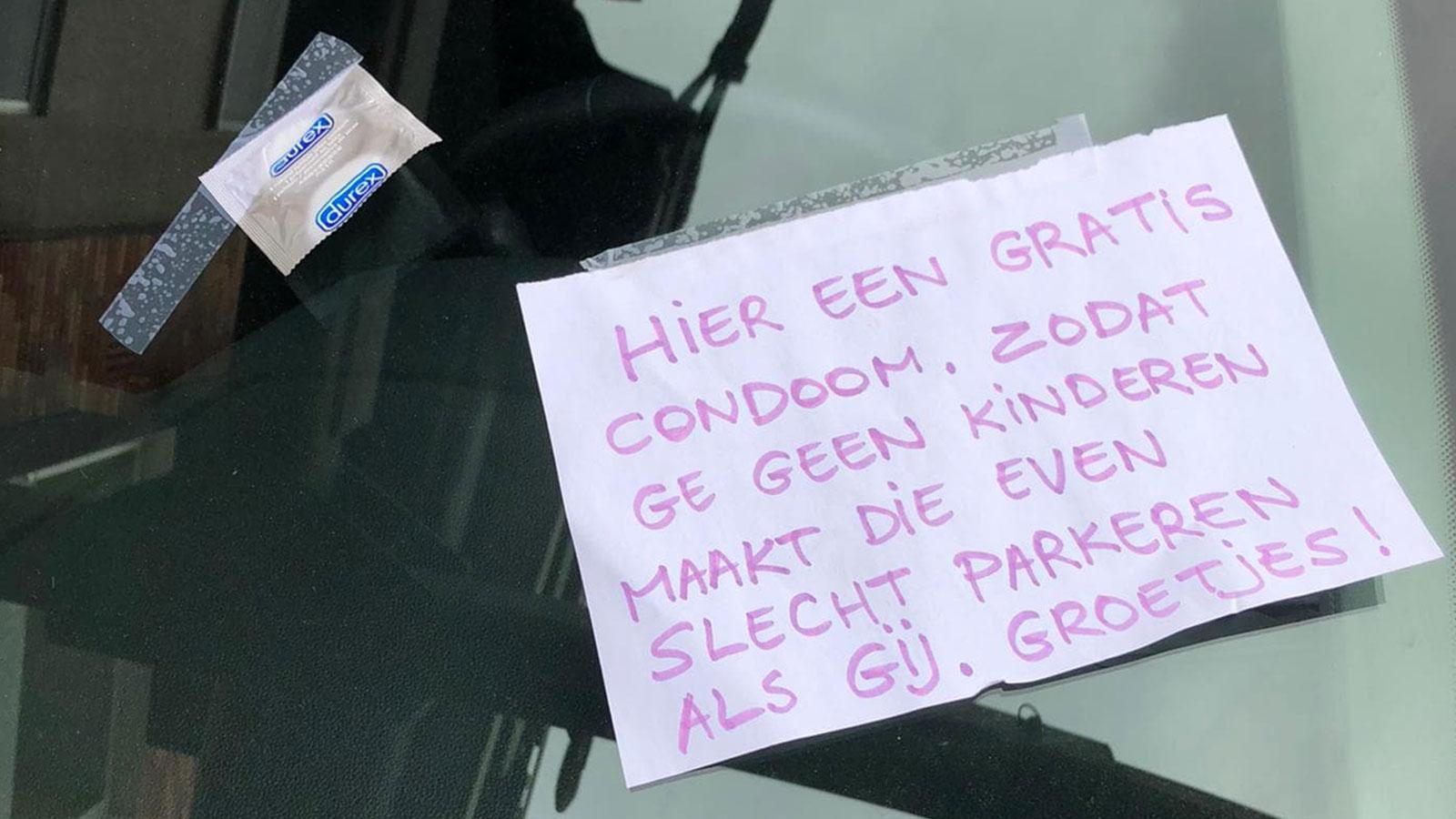 Foutparkeerder vindt bijzondere boodschap