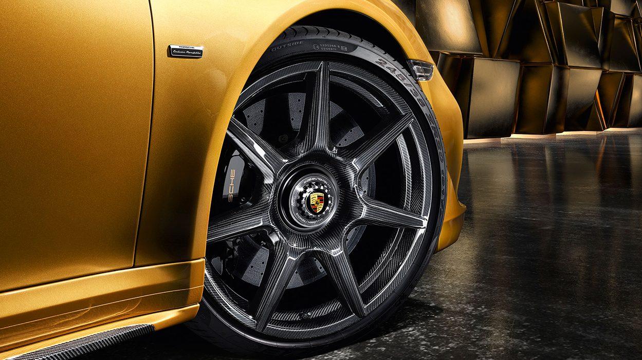 Porsche 911 Turbo S Exclusive koolstofvezel wielen