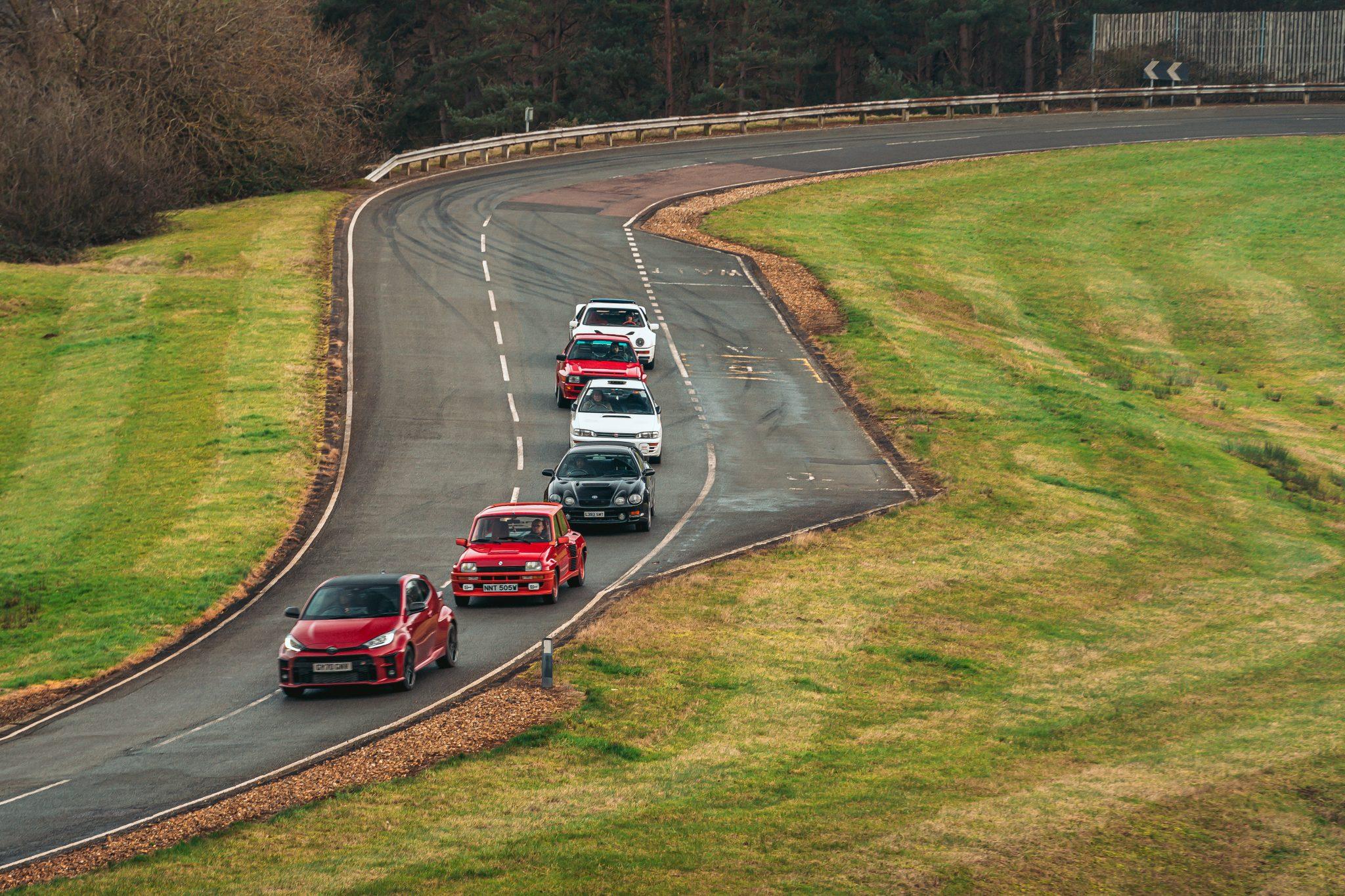 Toyota Celica vs Subaru Impreza vs Toyota GR Yaris vs Ford RS200 vs Audi Quattro vs Renault 5 Turbo