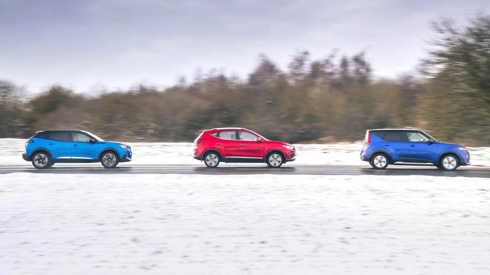 Peugeot e-2008 vs MG ZS EV vs Kia e-Soul
