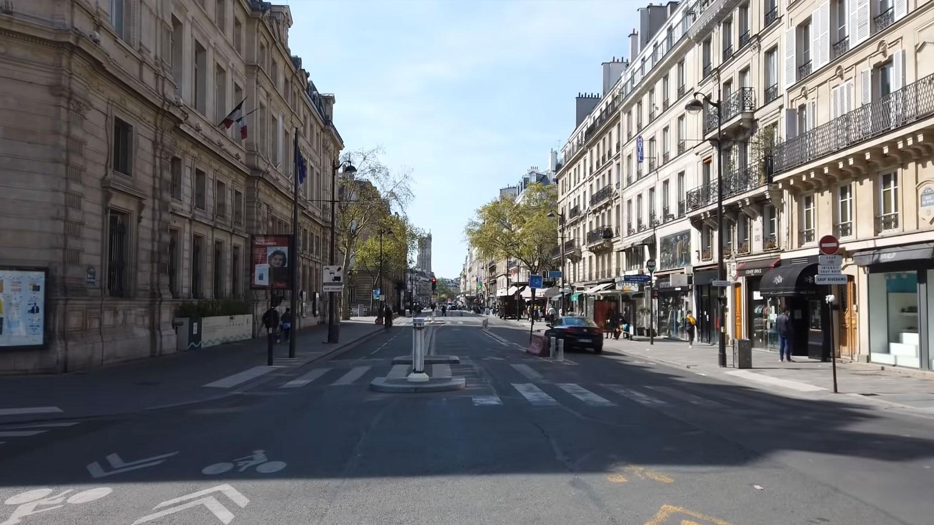 Kruispunt in Parijs is onmogelijk
