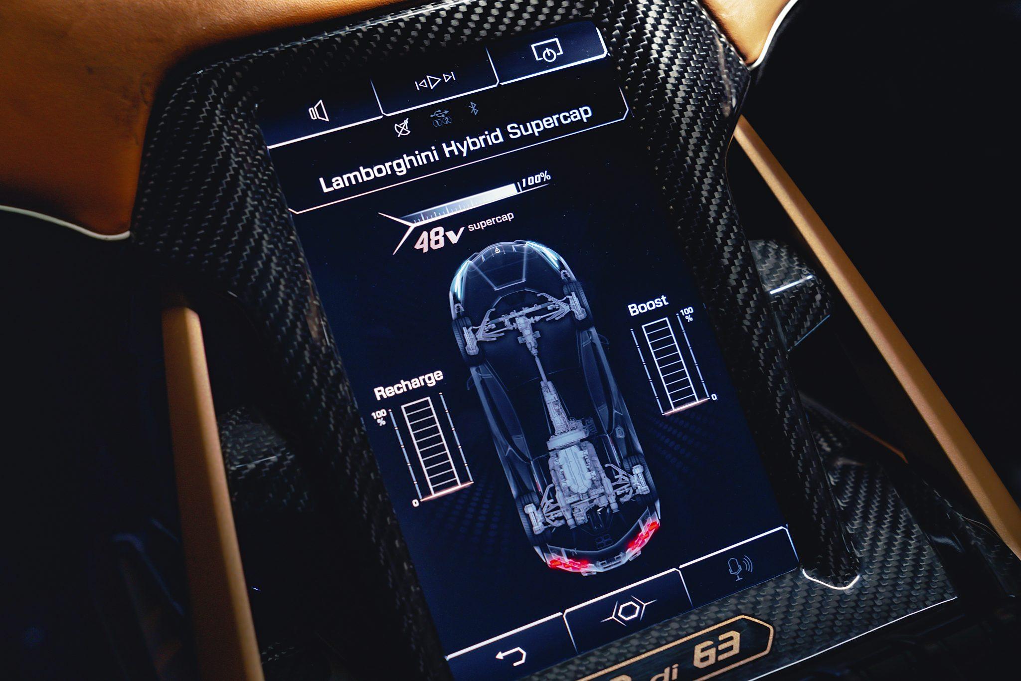 Lamborghini Sian (2021) scherm