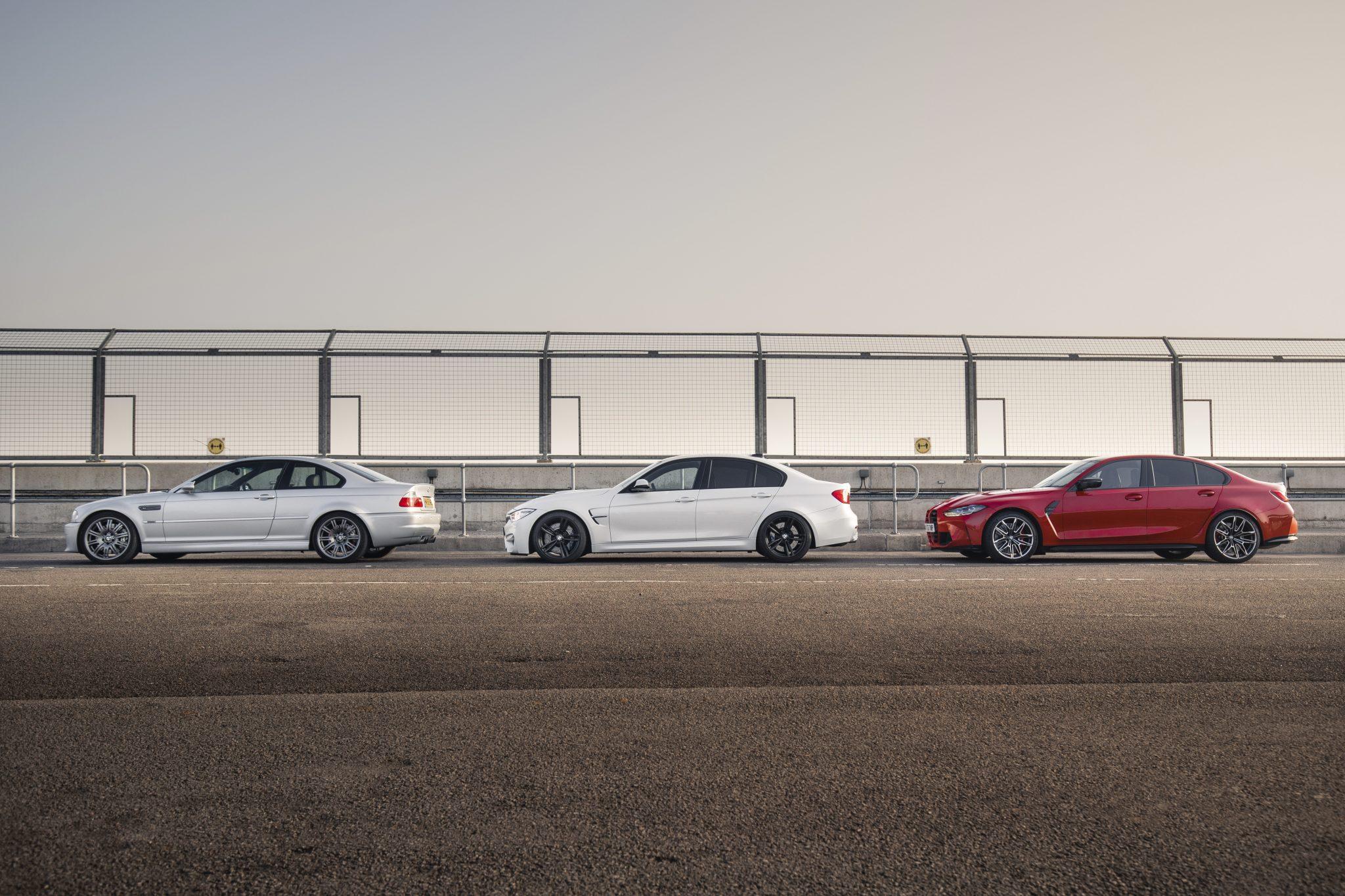 BMW M3 E46, F80 en G80