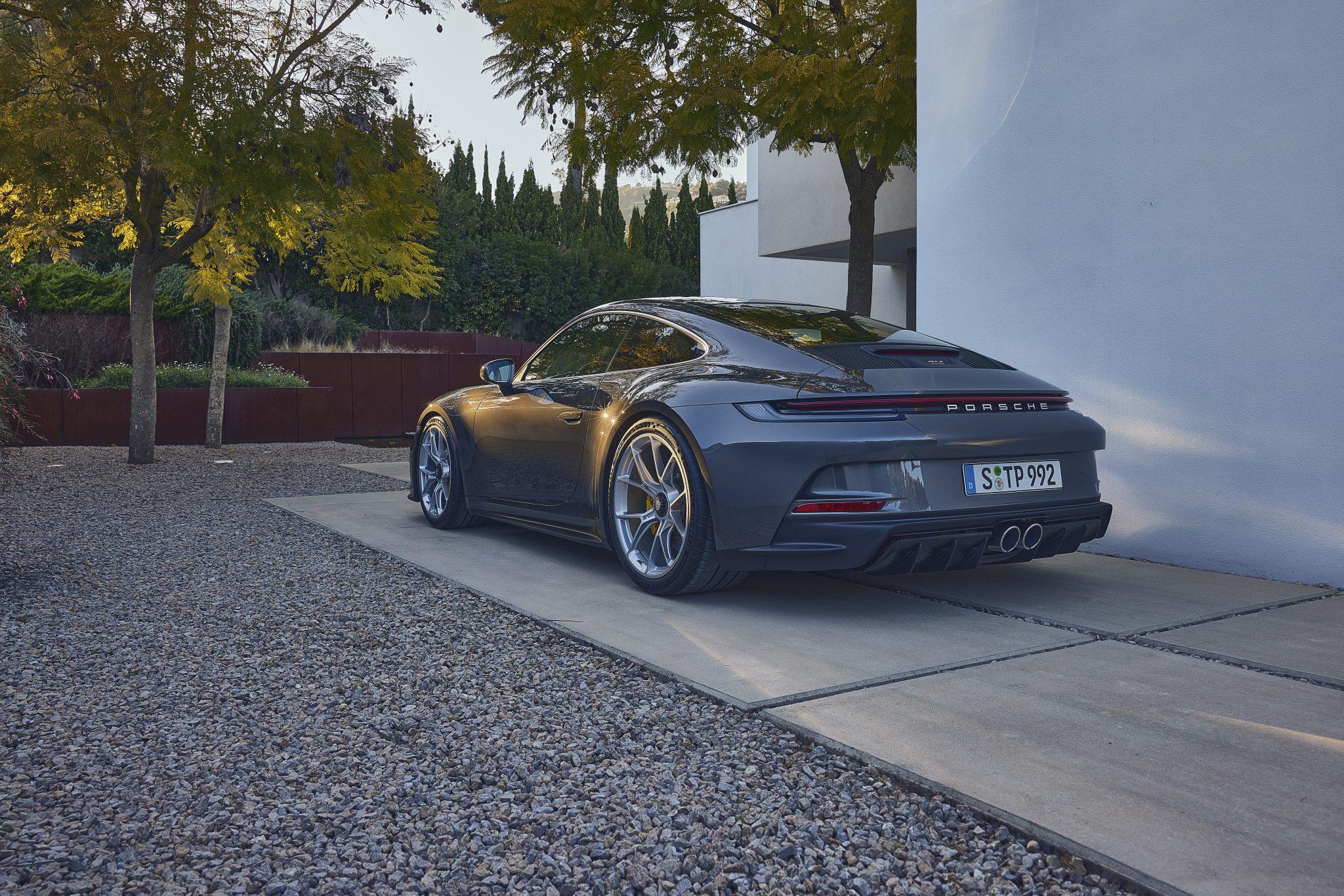 Achterkant Porsche 911 GT3 Touring