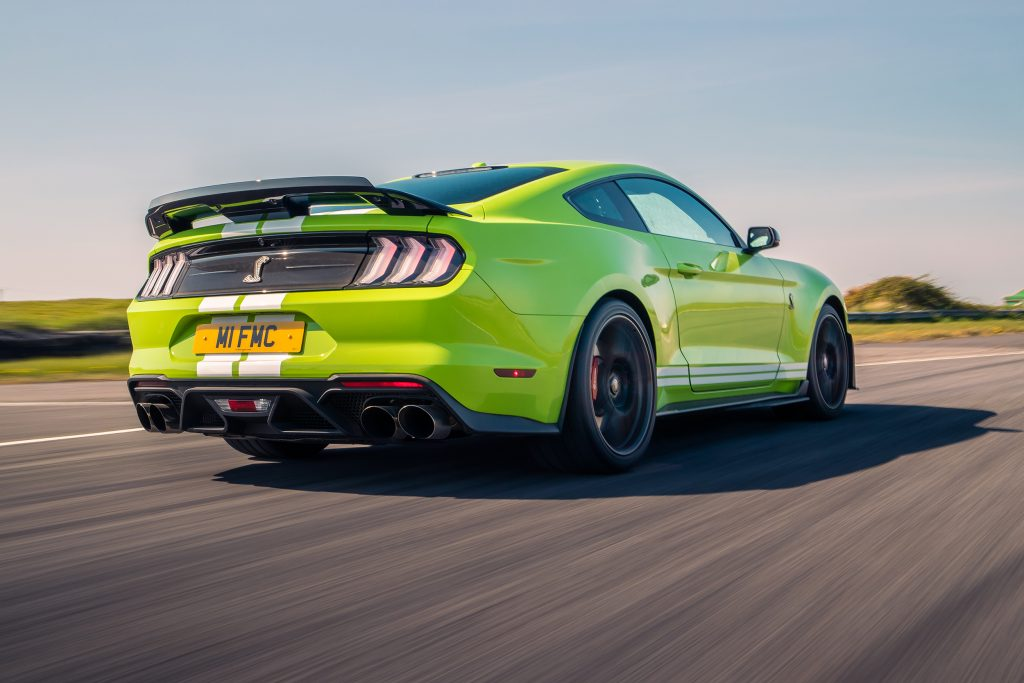 Achterkant Ford Mustang Shelby GT500
