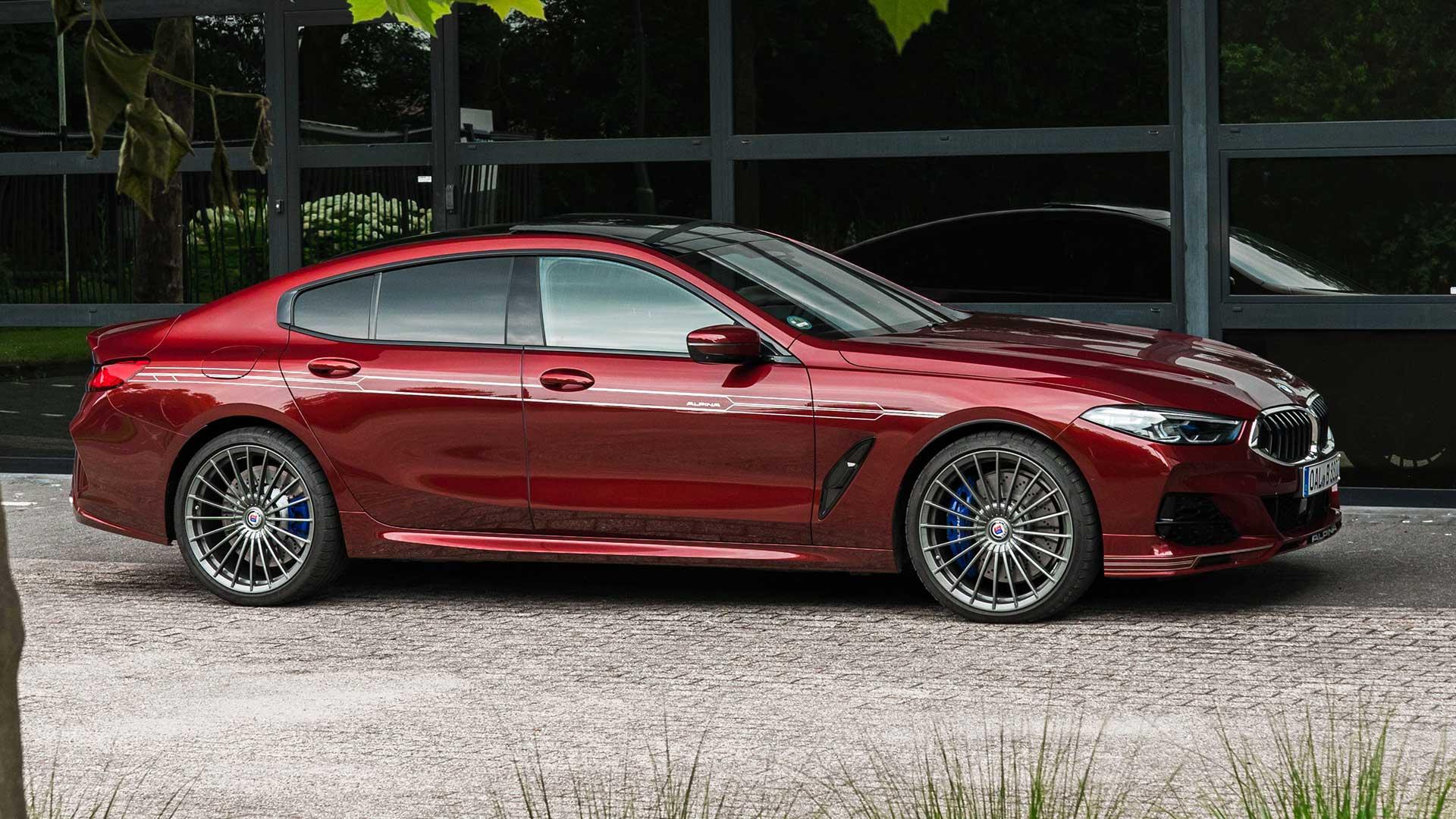 Alpina B8 Gran Coupé (BMW) in het rood