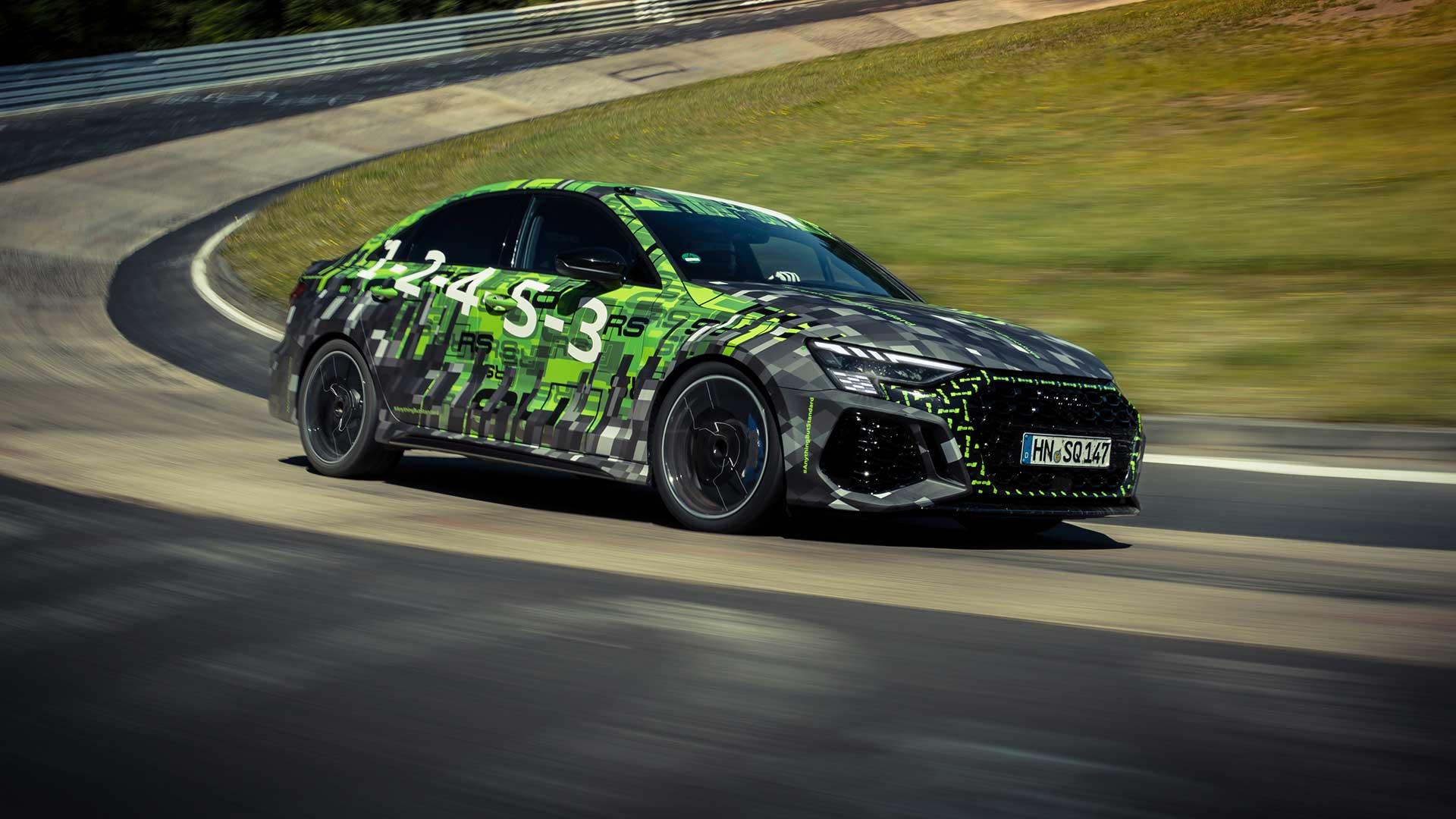 Audi RS 3 Limousine pakt Nürburgring-record