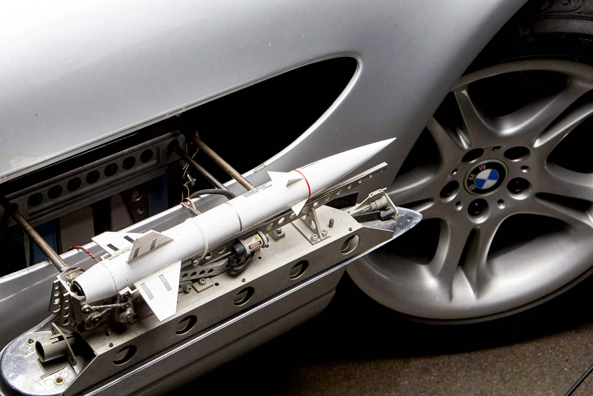 BMW Z8 detail van James Bond (007)