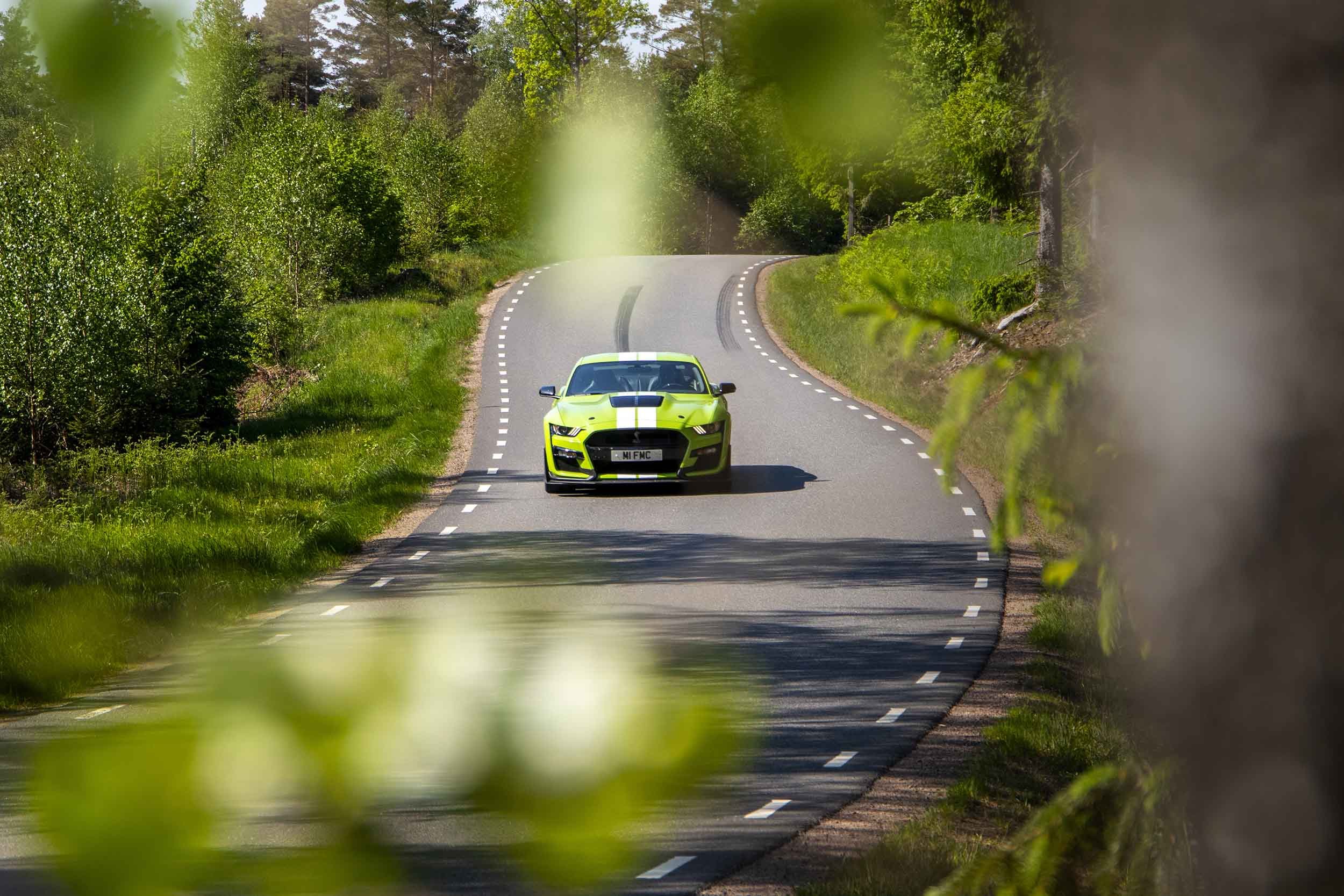Groen Ford Mustang Shelby GT500
