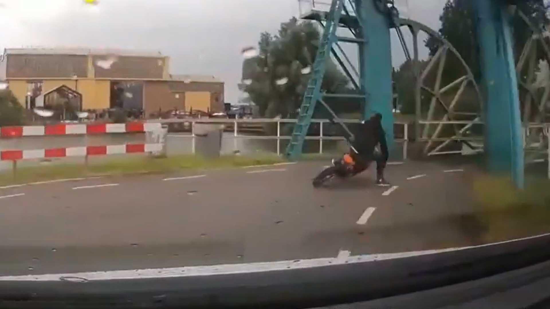 Achtervolging motor eindigt in valpartij