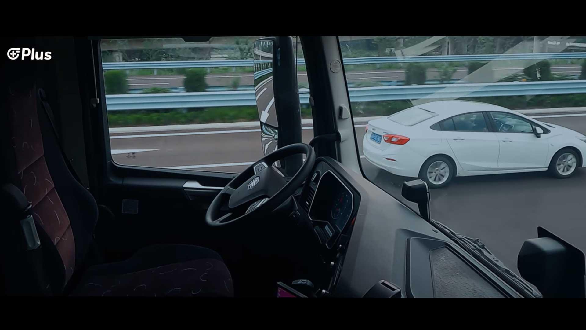 Vrachtwagen zonder bestuurder