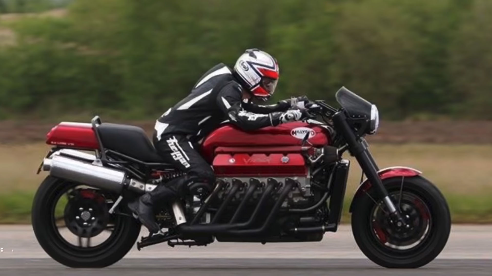 Motorfiets met Viper-V10