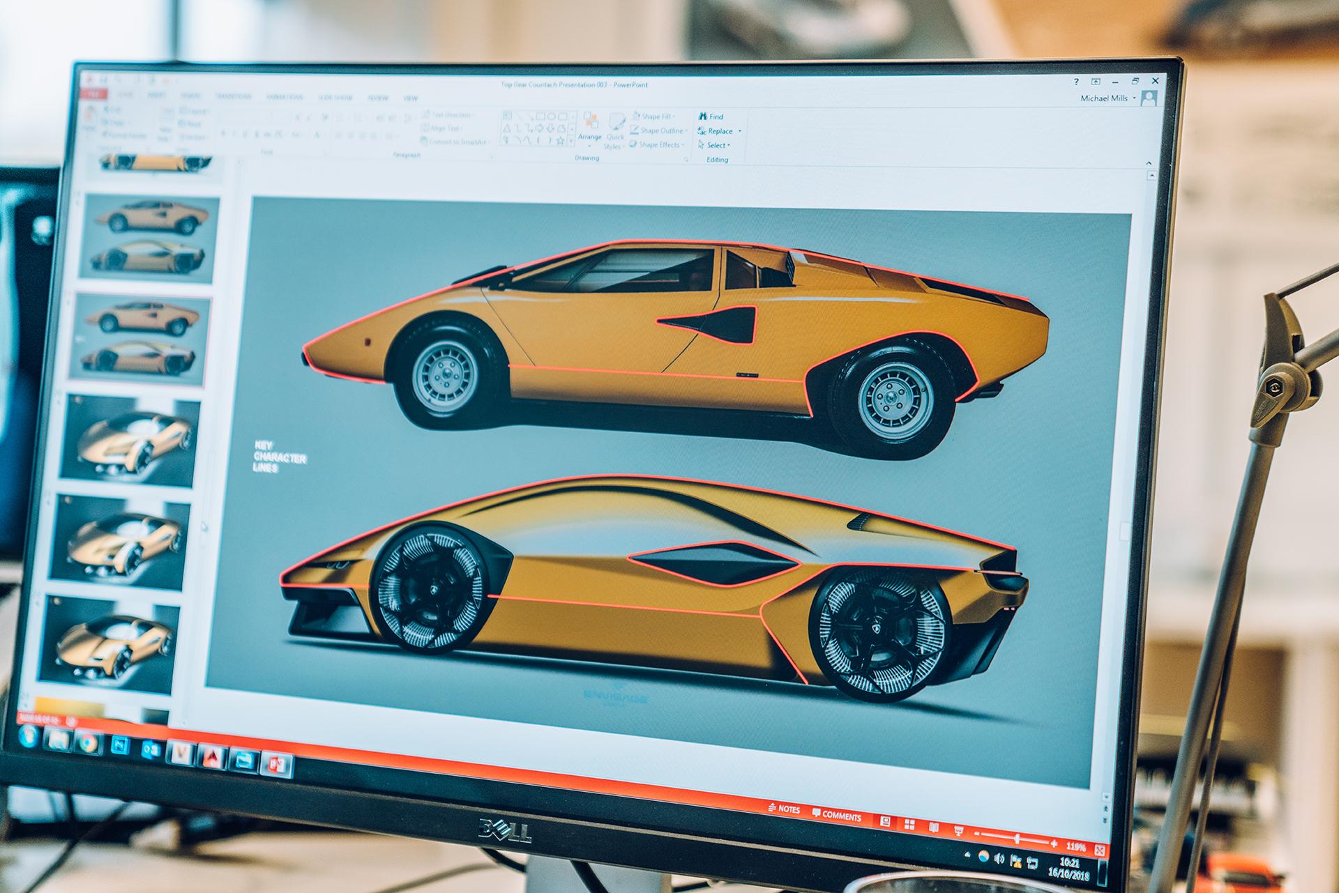 Geschiedenis van Lamborghini - Countach design
