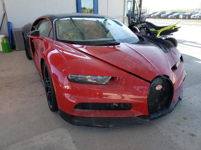 Bugatti Chiron met brandschade